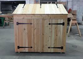 outdoor trash bin storage garbage shed outdoor garbage can storage