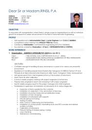 Instrumentation Project Engineer Resume Instrumentation Engineer Resume
