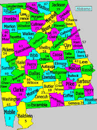 Map Of Alabama Counties Al Counties Tag Information