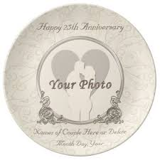 25th wedding anniversary plates 68 best anniversary gifts personalized images on 50th