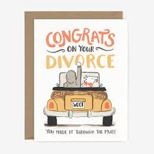 congratulations on your divorce card congrats divorce card paper pony co