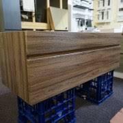 750mm Wall Hung Vanity Asti 750mm Walnut Oak Pvc Thermal Foil Timber Wood Grain Wall
