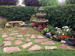 succulent garden with seating area mediterranean landscape