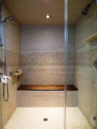bathroom great corner walk in shower with built in bench plus