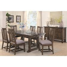 industrial dining room tables willowbrook rustic ash gunmetal rustic industrial dining table