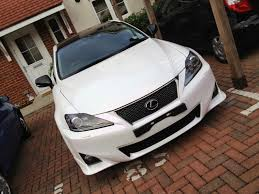 lexus is220d carbon build up project car wrap 2012 f sport bumper led headlamps and turn