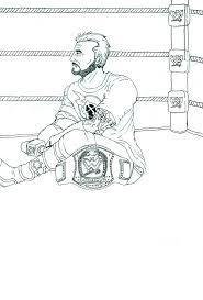 cm punk coloring pages coloring page