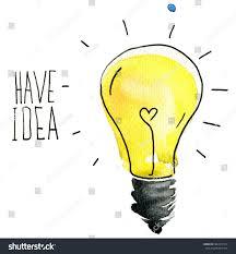 light bulb idea abstract sketch creative stock illustration