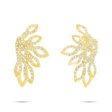 yellow gold earrings 0 33ct 14k yellow gold diamond earring sc55006724 bova diamonds