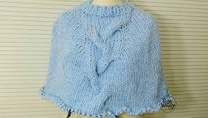 ponchos a palillo cómo tejer un poncho con trenza en dos agujas o palillos soy woolly