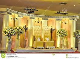 Wedding Stage Decoration Malay Wedding Chair And Stage Decoration Stock Photos Image