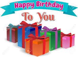 happy birthday ribbon happy birthday to you gift box colors text on ribbon blue