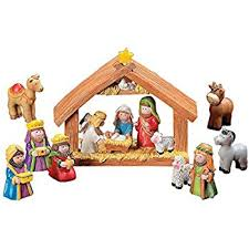 express mini nativity set stable with