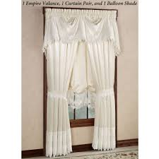 White Balloon Curtains Trousseau Lace Balloon Shade
