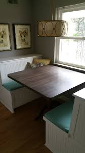 custom kitchen booth and table cabinets2countertops