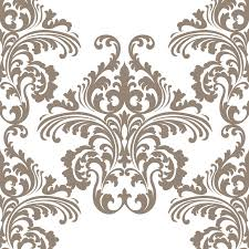 vintage vector rococo floral ornament damask pattern stock vector