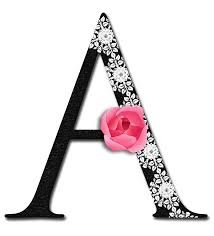 monogrammed scrapbook glamorous letter a alphabetically speaking