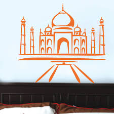 the taj mahal wall vinyl sticker art poster easy peel amp stick the taj mahal wall vinyl sticker art poster