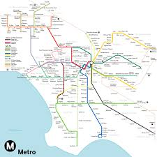 Subway Map by The Most Optimistic Possible La Metro Rail Map Of 2040 Curbed La