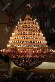 Chandelier New York A Big Chandelier In A Protestant Church In New York City Usa