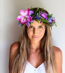 flower headpiece mint and melon boutique flower crowns