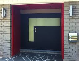home design attractive black custom modern front doors with red