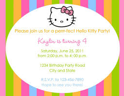 party invitation wording kitty invitation birthday party