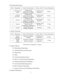 Sample Resume For Assistant Professor Position Sample Resume For Assistant Professor In Engineering College Pdf