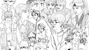 Project Bts Tumblr Coloring Pages Kpop