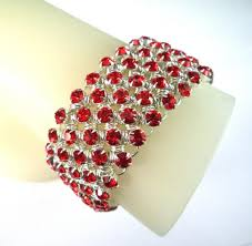 red crystal bracelet images Diamond meadows cuff bracelet in red swarovski crystal jpg