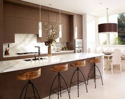 rustic contemporary kitchen dining table black marble countertops