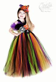 funky witch tutu dress with matching hat