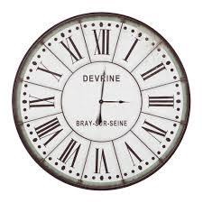 yosemite home decor 48 in x 48 in circular iron wall clock in