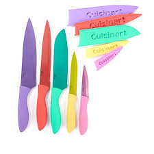 cuisinart kitchen knives cuisinart 10 metallic knife set 8613707 hsn