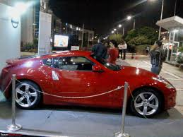 nissan 370z on road price in india report u0026 pics nissan 370z launch in mumbai display in various