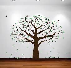 popular family tree nursery buy cheap family tree nursery lots large wall nursery family tree decal photo branches falling leaves with birds wall poster removable art