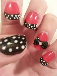 red black and white nail designs image collections nail art designs