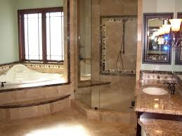 interior master bathroom remodel with cabins of glass