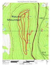 Ouachita Mountains Map Round Top Mountain Trail 4 Mi Arklahoma Hiker