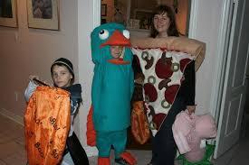 Perry Platypus Halloween Costume Homemade Perry Platypus Pizza Slice Costume
