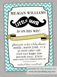 mustache baby shower invitation little man