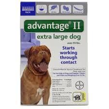 bayer advantage ii dog over 55 lb 6 pack dog flea advantage at