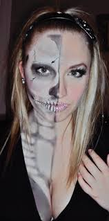 36 best half skull images on pinterest halloween ideas make up
