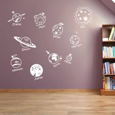 Decoration Star Wall Decals Home by Solar System Sun Star Earth Vinyl Wall Decor Kids Sticker Home