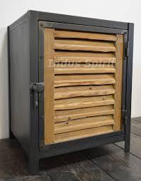 meuble de metier industriel buffet industriel bois métal enfilade industrielle 4 portes