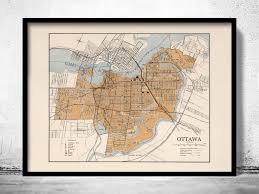 Map Of Ottawa Canada by Old Map Of Ottawa Canada 1915 Fine And Similar Items
