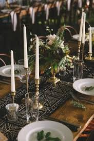 candle runners taper candle and greenery centerpiece greenery centerpiece