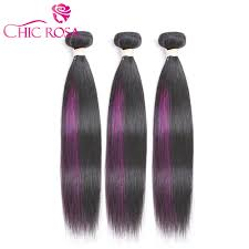 different color purples aliexpress com buy chic rosa straight purple ombre remy hair 3