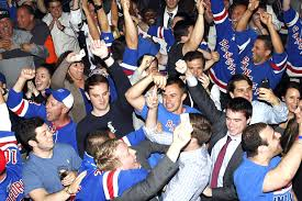 new york rangers fans drinks chants and hugs as new york goes nuts for rangers