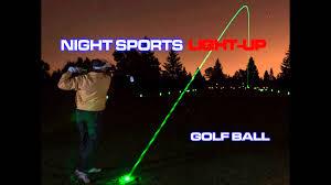 light up golf balls night sports light up golf ball youtube